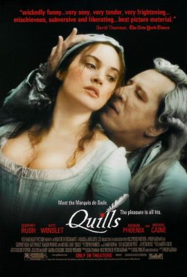 ดูหนัง Quills (2000) นิยายโลกีย์ กวีฉาวโลก ดูหนังออนไลน์ฟรี ดูหนังฟรี HD ชัด ดูหนังใหม่ชนโรง หนังใหม่ล่าสุด เต็มเรื่อง มาสเตอร์ พากย์ไทย ซาวด์แทร็ก ซับไทย หนังซูม หนังแอคชั่น หนังผจญภัย หนังแอนนิเมชั่น หนัง HD ได้ที่ movie24x.com