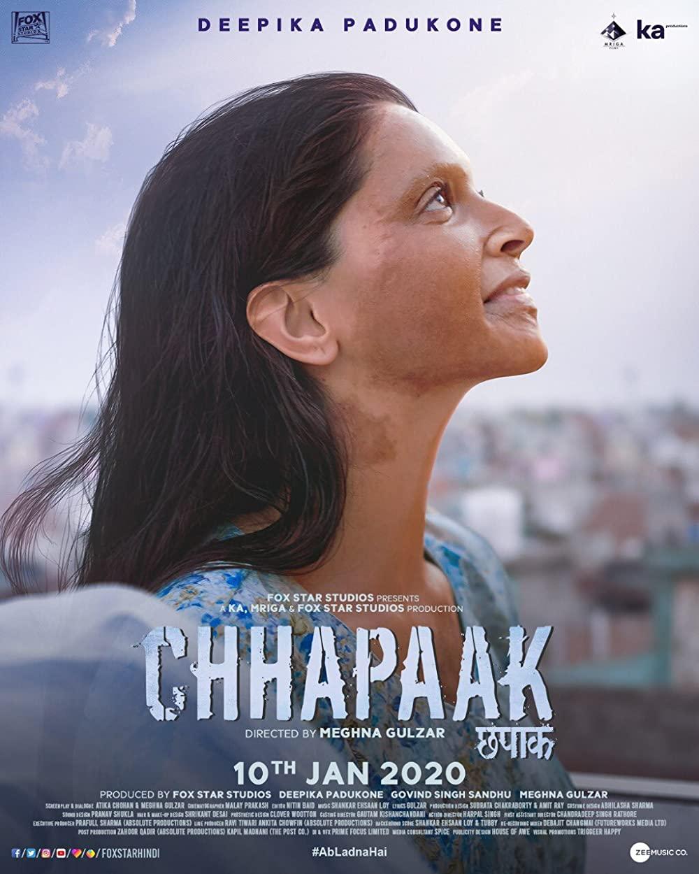 ดูหนัง Chhapaak (2020) ดูหนังออนไลน์ฟรี ดูหนังฟรี ดูหนังใหม่ชนโรง หนังใหม่ล่าสุด หนังแอคชั่น หนังผจญภัย หนังแอนนิเมชั่น หนัง HD ได้ที่ movie24x.com
